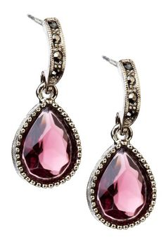 Boutique by 1928 Half Hoop Pear Drop Earrings
