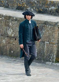 Aidan Turner as Captain Ross Poldark.