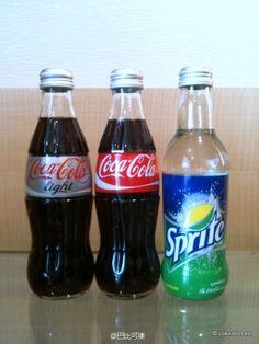 2011 Singapore Coca-Cola, Diet Coke and Sprite glass bottles