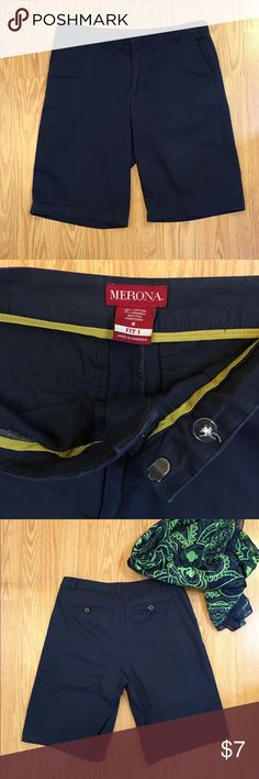 Merona shorts Dark blue walking shorts Shorts