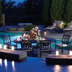 Romantic dining set outside