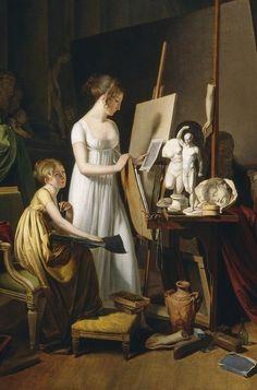 """The Painter's Studio"" (detail), 1800, Louis-Léopold Boilly."