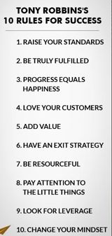Rules for success: Tony Robbins