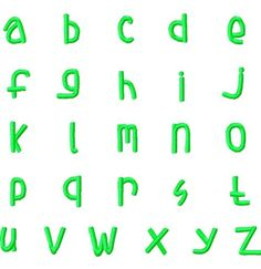 Lower Case Stacked Name Font The 3 Sizes include (approximately) .50 inches .80 inches 1.00 inches