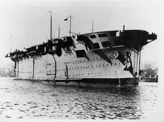 The World War I vintage HMS Argus was one of the first aircraft carriers ever built but operated throughout World War II. Its large hangars were capable of holding fixed wing aircraft.