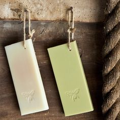 Soap On A Rope - Olive and oatmeal vegetable soaps