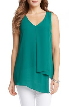 Karen Kane Draped Asymmetrical Top available at #Nordstrom