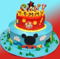 Custom Birthday Cake. Custom Mickey Mouse birthday cake    Palermo's Bakery creates custom cakes, wedding cakes, birthday cakes, graduation cakes, cake pops, cupcakes, cookies, custom dessert tables and serves the New Jersey/New York Area