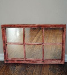 Reclaimed Wood Window Mirror by Reclaimed State on Scoutmob Shoppe Window Mirror, Window Frames, Window Ideas, Wall Mirror, Mirrors, Old Wood Windows, Country Living Decor, Tranquil Bedroom, Nifty Diy