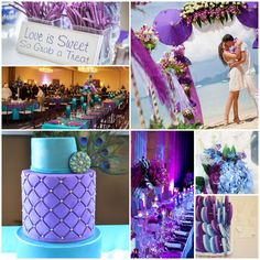 A royal wedding theme Sky Blue and Purple