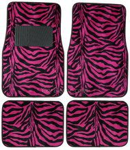 Zebra Hot Pink car floor mats from CarDecor.com.