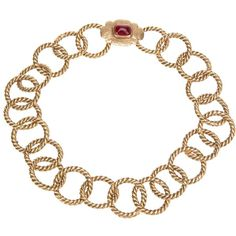 CHANEL VINTAGE loop chain necklace