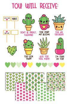 OFF Cactus clipart kawaii cactus clipart valentine Diy Kawaii, Kawaii Art, Kawaii Drawings, Cute Drawings, Zentangle, Cactus Clipart, Cactus Drawing, Cute Fonts, Flower Doodles