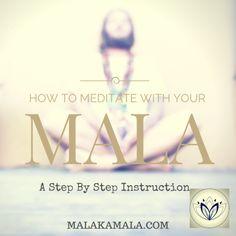 How to Meditate with Your Mala Beads - A Step by Step Instruction - Mala Kamala Mala Beads