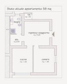elle esse: Ristrutturare un appartamento di 60 mq con un tocc...