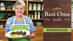 Resi Oma kocht - gefüllte Rindsrouladen - YouTube Cheese Spaetzle Recipe, Cereal, Homemade, Cooking, Breakfast, Youtube, Food, German Recipes, Pasta