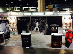 The #MauroPetCare display at the Global Pet Expo - All set up and ready for the show!