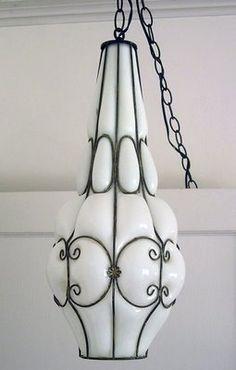 Vintage Italian Murano Cased Glass Pendant Chandelier.  Found at www.parishotelboutique.com.