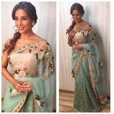 Bollywood-Indian-Designer-Party-Wear-Sky-Blue-Saree-Sari-Bridal-Wedding-Saree