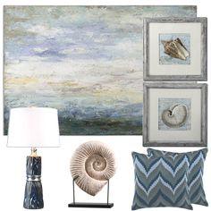 Ocean Oasis Décor Collection  #oceandecor #beachdecor #oceanlivingroom