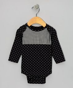 Take a look at this Black Disco Dot Bodysuit - Infant by Kidtopia on #zulily today!