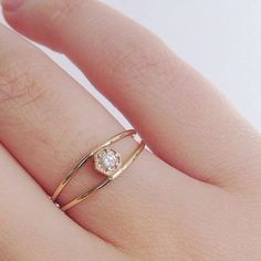 Pin for Later: 30 Small Real-Girl Engagement Rings With Big Impact Delicate Gem