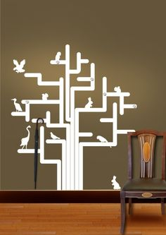 4289744a564 Gloob Animal Tree Wall Sticker With Hooks by Gloob Online - Animals - Home  Decor - Pepperfry Product