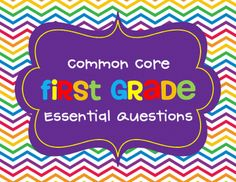 Common Core - First Grade @Ashley Ellis