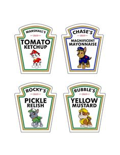Sale 80% OFF PAW PATROL Condiment Labels by PrintAtHomeDesign f8a3d97471523