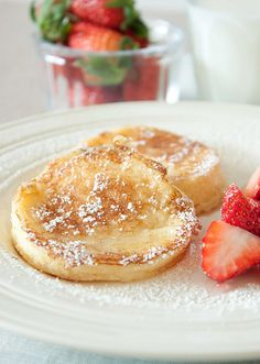Lemon Souffle Pancakes - feather light and citrusy.! Tasted like German pancakes with lemon!