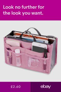 77e01ed6b2 Details about Portable Felt Fabric Purse Handbag Organizer Bag W ...