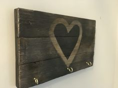 Reclaimed wood key rack - key holder