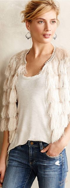 Fringed jacket is to die for!!