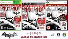 """Offer -- Batman: Arkham City Game of the Year - GOTY - Developed by Rocksteady Studios, Batman: Arkham City builds upon the intense, atmospheric foundation of Batman: Arkham Asylum, sending players soaring into Arkham City, the new maximum security """"home"""" for all of Gotham City's thugs, gangsters and insane criminal masterminds. ---PS3 $ 29.99 --- Xbox $ 29.99 --- PC $ 29.95 --- Limited time offer"""