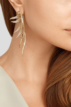 Eddie Borgo | Gold-plated cubic zirconia earring | NET-A-PORTER.COM