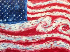 Van Gogh's American Flag #PinotsPaletteBricktown #4thofJuly