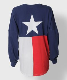 State of Texas flag long sleeve shirt
