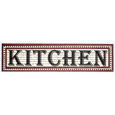 Horizontal Kitchen Sign with Dot Border