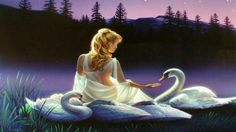 Swan Princess For Our Princess ♥ wallpaper in The Daydreaming Club Musica Celestial, Legends And Myths, Daily Tarot, Princess Photo, She Wolf, Swan Lake, Illustrations, Learn English, English Story
