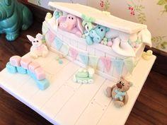 Toy box unisex christening cake