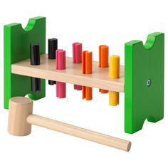 IKEA MULA toy hammering block Helps the child develop fine motor skills and hand/eye co-ordination.