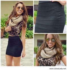 Black short skirt