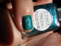 I Don't Mean Rhinestones over CND Green Scene #546