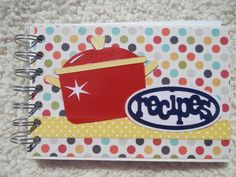 4x6 Recipe Book by SimplyMemories on Etsy. Ready to ship