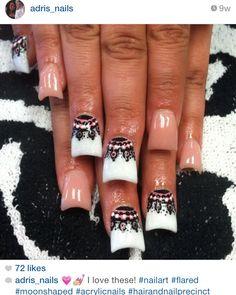 Tribal print acrylic nails! Nail art and nails by @adris_nails