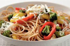 Kijk wat een lekker recept ik heb gevonden op Allerhande! Spaghetti met wokgroente en geitenkaas