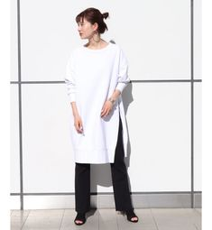 CALUX ロングプルオーバー◆(トップス):プラージュ(Plage)の通販|アイルミネ Normcore, Knitting, Long Shirts, Outfits, Style, Winter, Products, Fashion, Swag