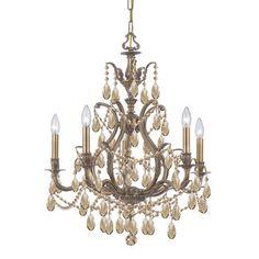Dawson 5 Light Crystal Chandelier - http://chandelierspot.com/dawson-5-light-crystal-chandelier-589723612/