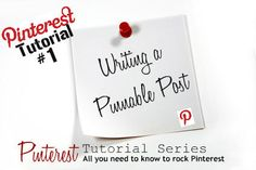 Under the Golden Apple Tree: Pinterest Tutorial: Writing a Pinnable Post