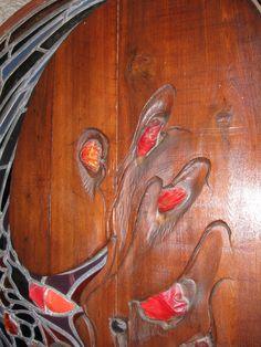 James Hubbell - door detail - open house 2009